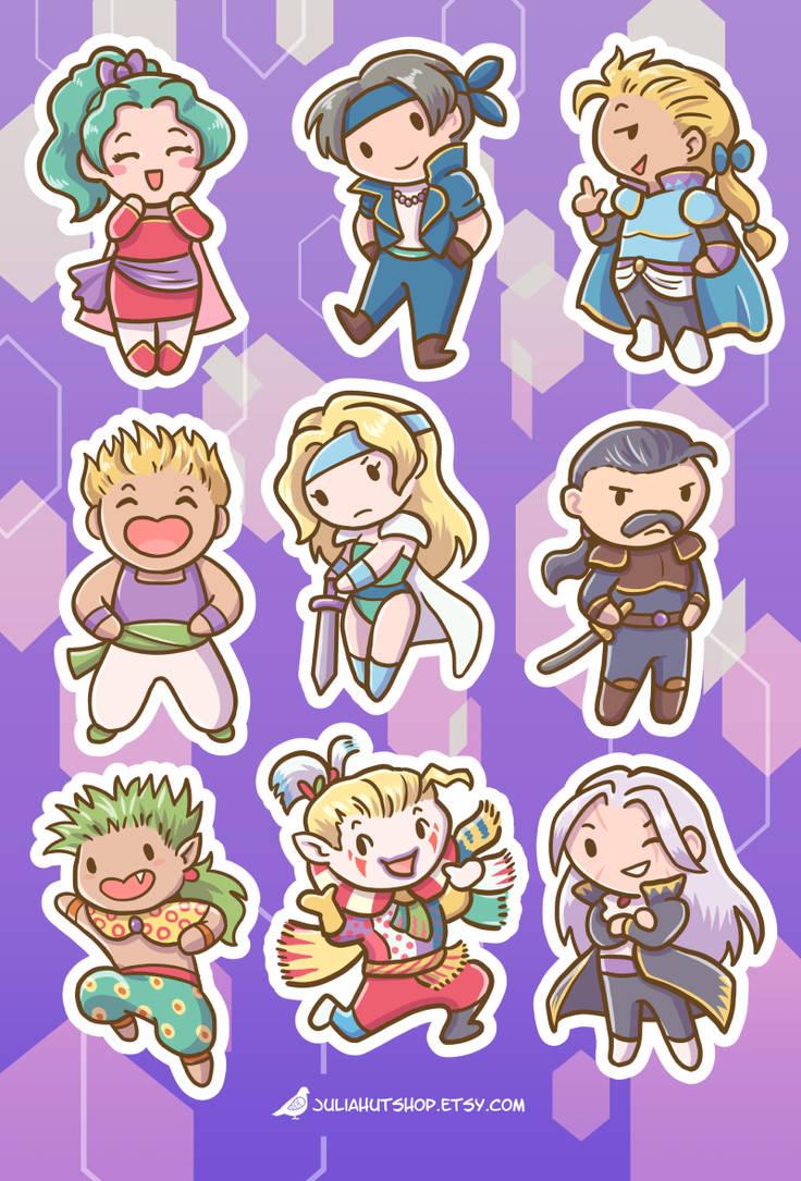 Final Fantasy 6 Stickers by orinocou