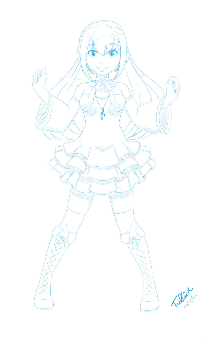 Request: Miyake Ellen (Concept Sketch) by trelliah