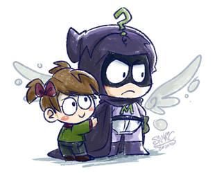 South Park - Mysterion and Karen 01 by sanna-mania