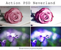 Neverland - Photoshop Action + PSD. by Heavensinyoureyes