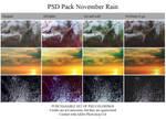 PSD Pack 'November rain' by Heavensinyoureyes