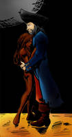 Davy and Calypso (color) by vanillacoke-disney