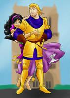 DC - Phoebus and Esmeralda (color) by vanillacoke-disney