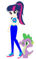 Twilight and Spike by Sturk-Fontaine