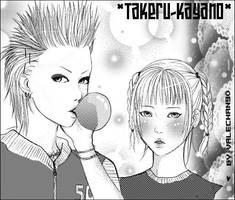 Takeru and kayano by ebirisho