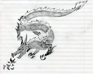 black dragon by ladydevilman