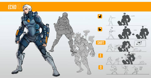 New Character Overwatch (Echo) by Rafashows