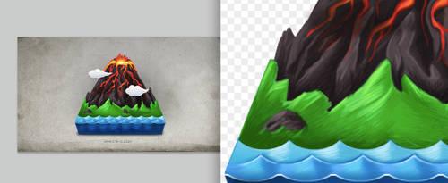 Volcano icon by rachel1009