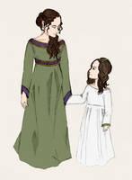 Padme and Leia by Hioshidzuka