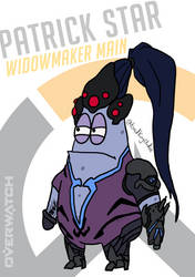 Patrick Star, Widowmaker Main by toadking07