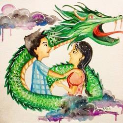 Haku and San by erindwiazmi
