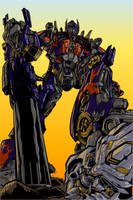 Optimus Prime Triumphant color by RazzieMbessai