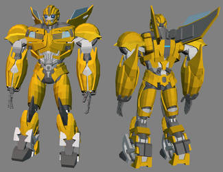 3D TFP Bumblebee - base model COMPLETE by RazzieMbessai