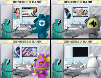 Geneseed Bank meme including template by Empyronaut