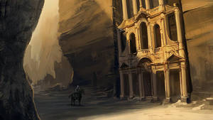 desert temple by pollux101