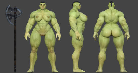 Female Orc by TullamoreDew