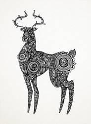 The Deer by dotsslashlines