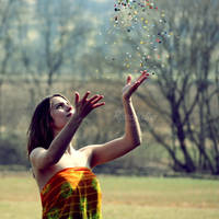 throwing, waiting, wishing by Rona-Keller