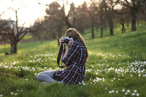 the girl behind the camera by Rona-Keller