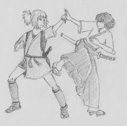 Chisa and Kanashimi by Lysperka