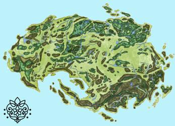 Map of Gaia by desertQueens