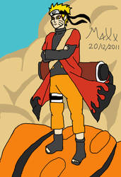 Sage Mode Naruto - Color by MaXx-Ownage