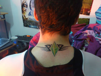 The Sims Plumbob Tattoo by MaXx-Ownage