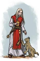 Livia with lynx by Neferu