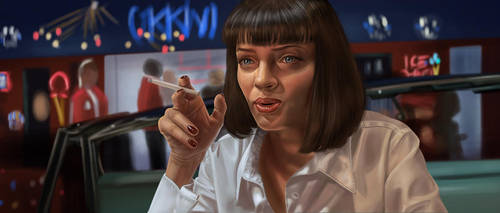 Pulp Fiction Mia by traydaripper