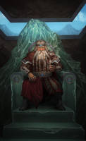 Dwarf King of the Mountain by grenias