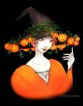 31 - Pumpkin witch by Balafenn-noz