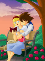 Love in the Park by Schreibaby-Zephyr