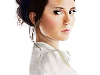 Nina Dobrev Drawing by Art-is-passion04