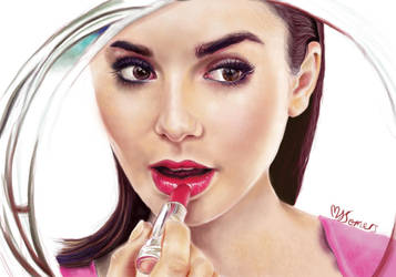 Lily Collins Drawing by Art-is-passion04