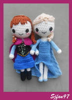 Anna and Elsa (Frozen) by SJFan97