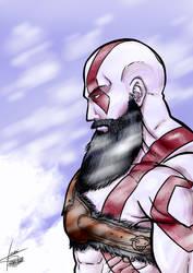 Kratos - God of War by Allan-Fiori