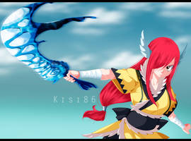 Erza Scarlet Fairy Tail 458 Wind Armor by kisi86