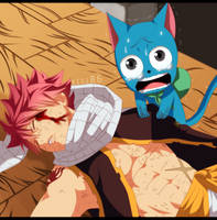 Natsu and Happy FT 468 by kisi86