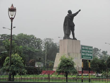 Netaji's statue, Kolkata by pradip27