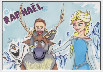 Raphael and Frozen by Djleemon
