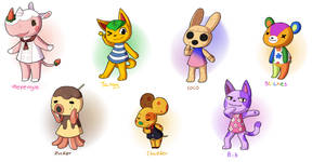 Animal Crossing- some villagers by Quarbie