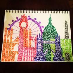 London Skyline by Evaria666