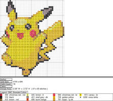 Pikachu XStitch Pattern 1 by niakane
