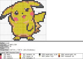 Pikachu XStitch Pattern 2 by niakane