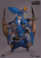Dinosaur-Warriors-Pteranodon Color Version by kaianimator