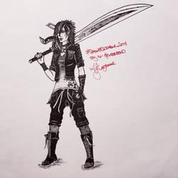 Final Fantasy Inktober Day 16: Genderbend by ThetaLov