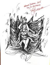 Final Fantasy Inktober Day 26: Archfiend by ThetaLov