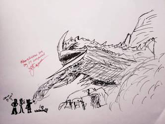 Final Fantasy Inktober Day 27: Overpowered by ThetaLov