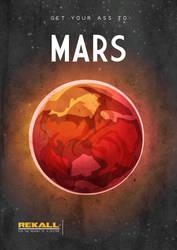 Mars (Total Recall poster) by MrShabbaUK