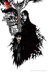 Snape, Potter - vampire version by SenselessJabberwocky